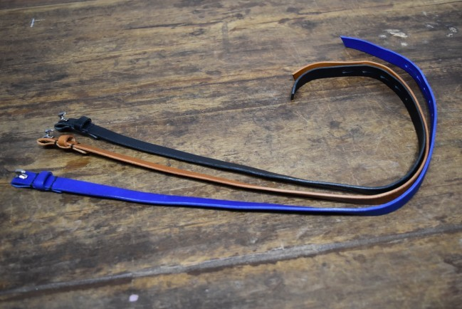 17SS Leather long bracelet BLUE