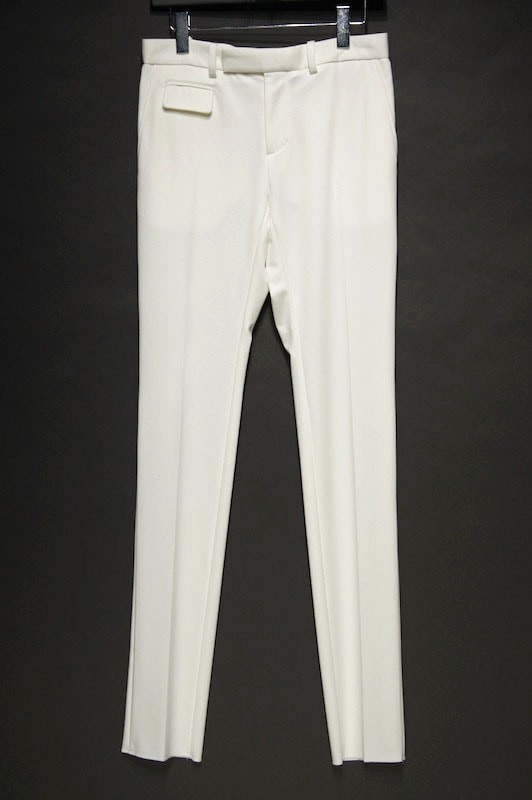 GalaabenD 15SS High Compact Lyocell Kersey Tapered Pants OFF  WHITE