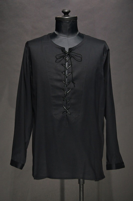 GalaabenD 15SS Lace up Shirt BLACK