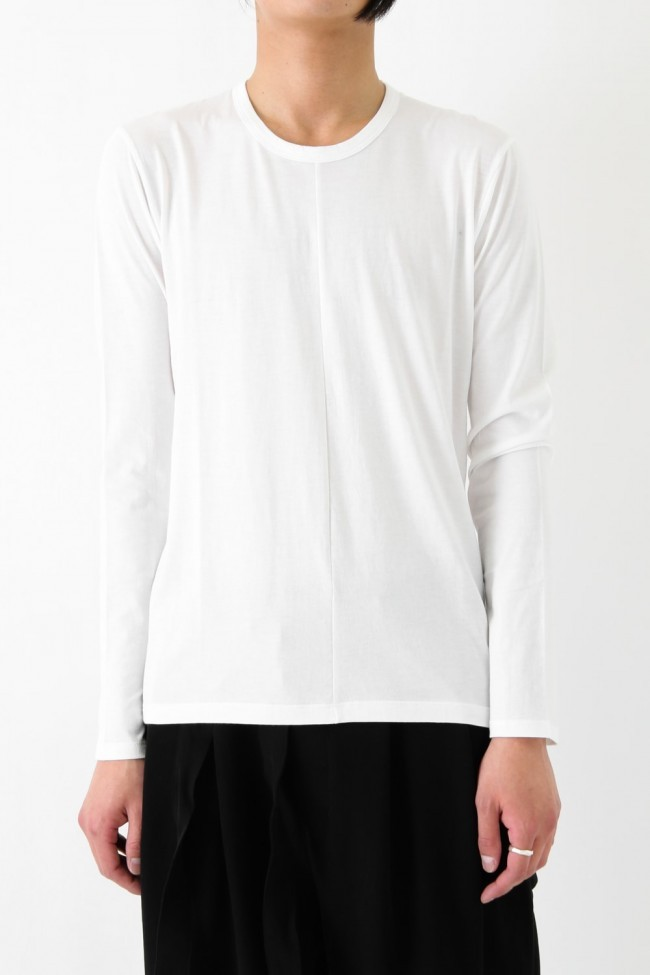 17SS Supima Cotton Long Sleeve T WHITE