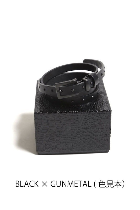 GalaabenD 16SS Oil Cow Pyramid Studs Belt