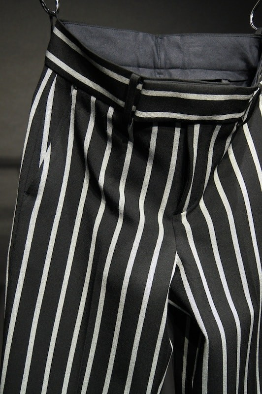 GalaabenD 16PS Wide Pitch Stripe Stretch Wide Slacks
