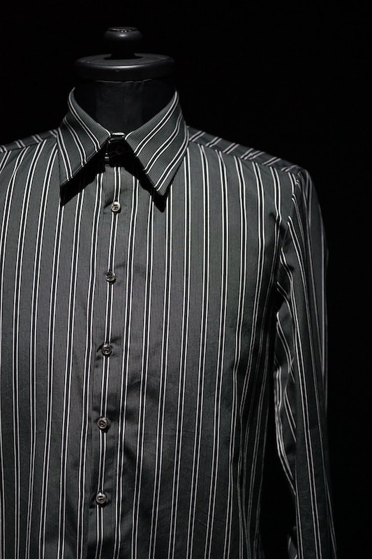 GalaabenD 16S Dobby Regimental Stripe Shirt (Regular Collar) BLACK