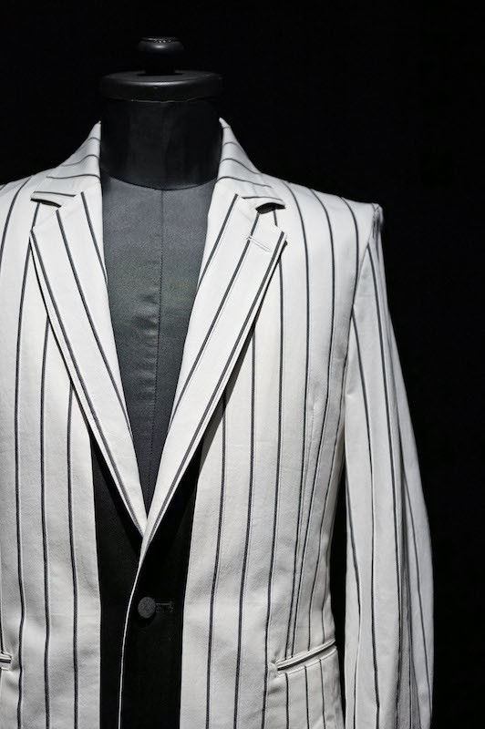GalaabenD 16S Tuck Stripe Stretchy Jacket WHITE