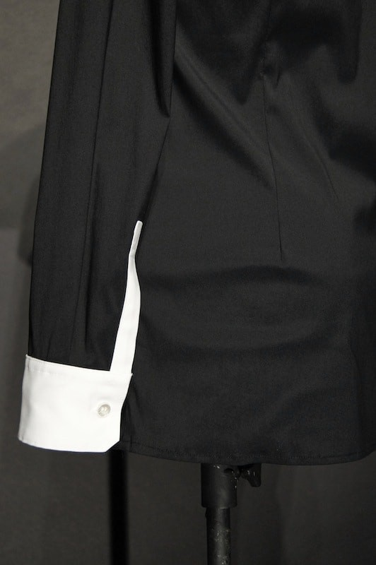 GalaabenD  16SS BASIC Broadcloth Stretch Shirt BLK×WHT