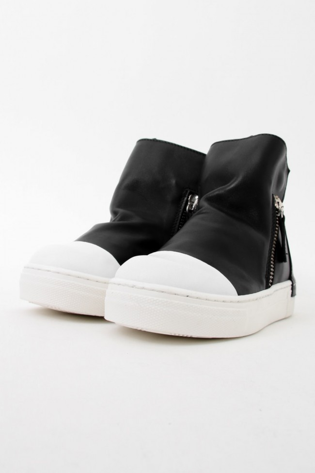 "16AW ARAIA KIDS ""JOY COLORS"" NERO Side Zip Sneakers BLACK SIZE 26 (2〜3 Years old)"