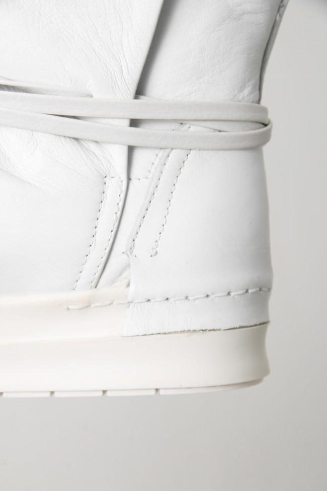 CINZIA ARAIA  SANTIAGO Layered High Cut Sneakers WHITE