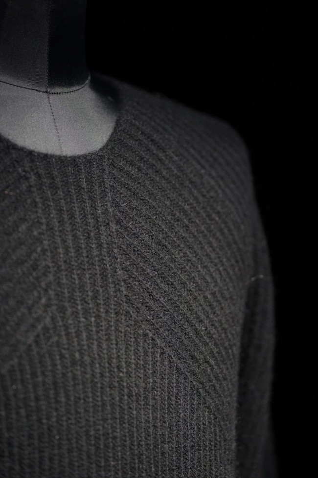 16AW RIBED KNIT PULLOVER BLACK