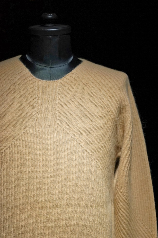 16AW RIBED KNIT PULLOVER HONEY BEIGE