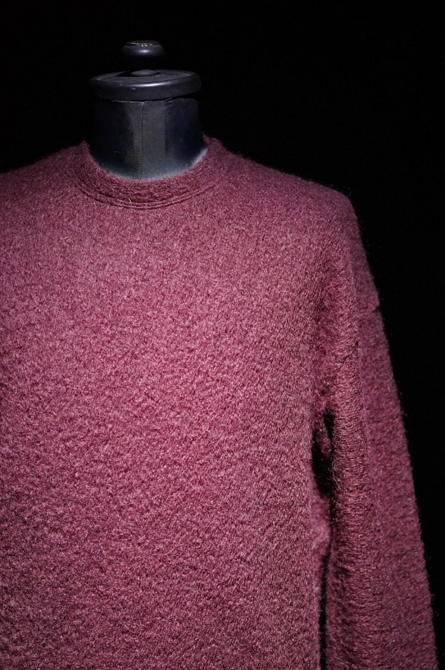 16AW MOHAIR ASYMMETRY KNIT PULLOVER BURGUNDY