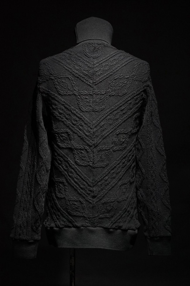 16AW Cable Knit Jacquard Turtle Neck Knit