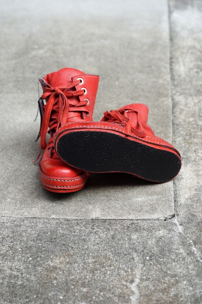 8holes Goat Leather RED