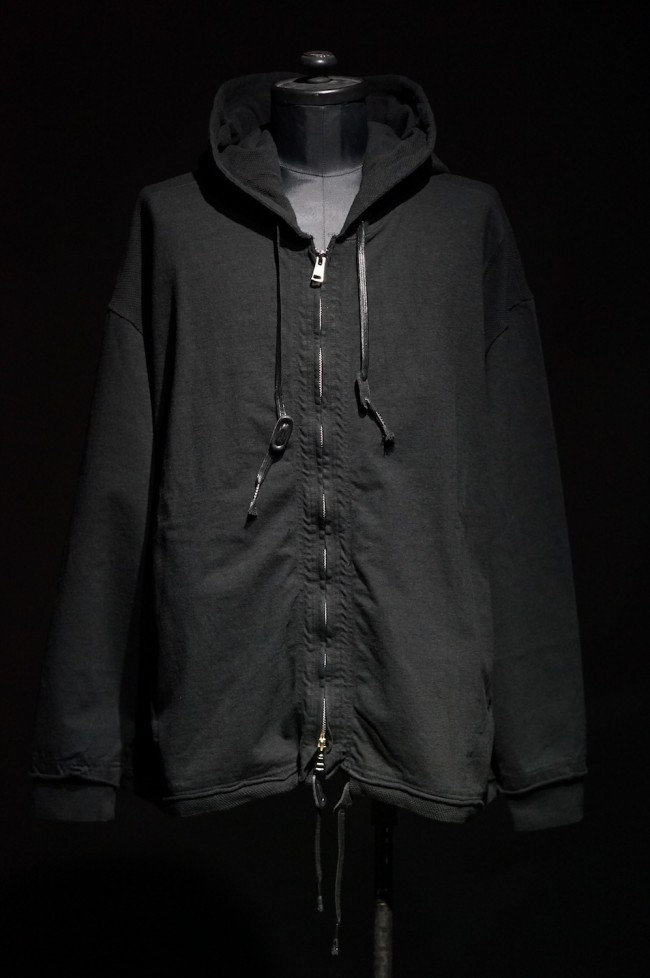 16AW Zippered Hooded sweatshirt