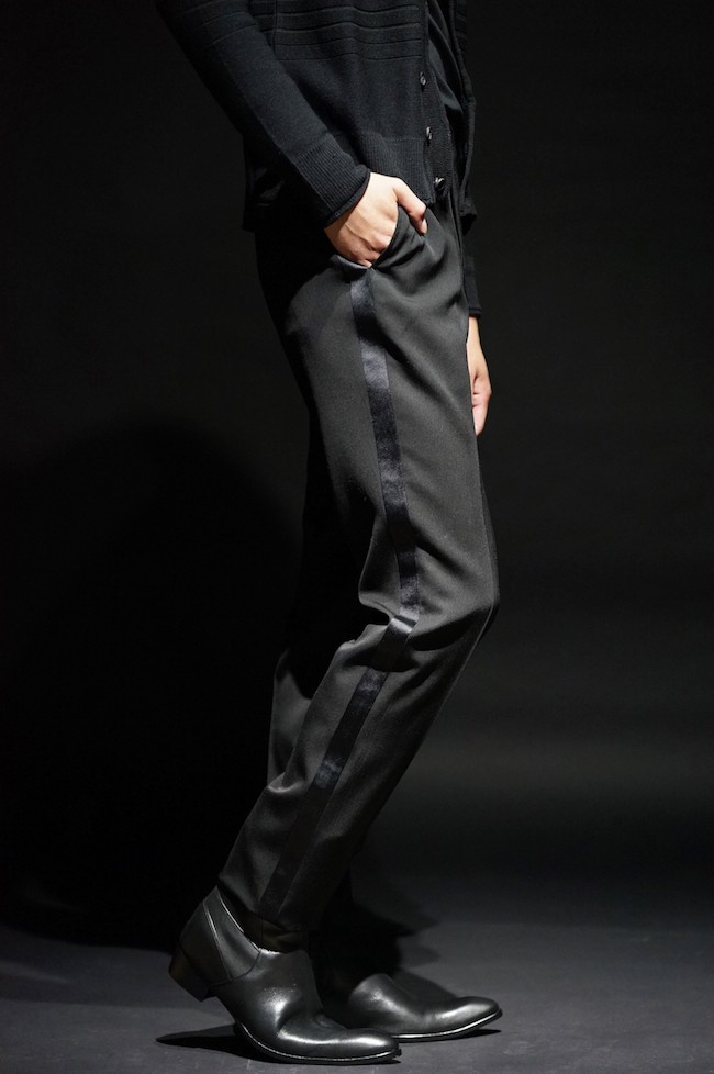 16AW TAILORED : T001 SIDESTRIP TROUSERS