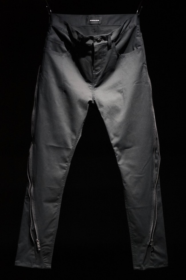 16AW 2SIHOUETTE ZIPPERD PANTS