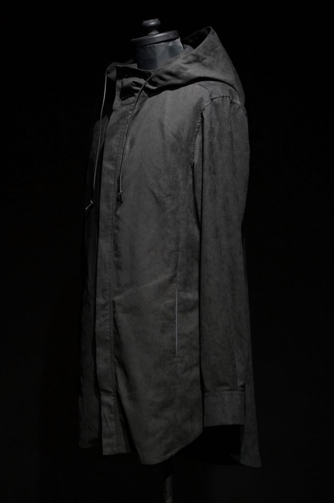 16AW SUEDE CLOTH HOODED LONG SHIRT