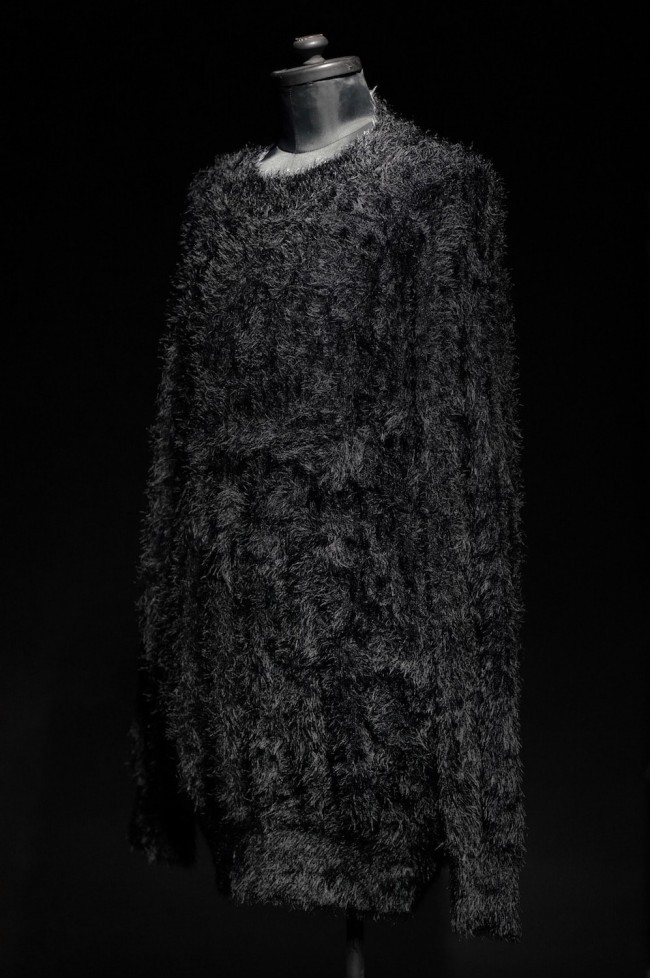 16AW SHAGGY LOOSE SIHOUETTE PULLOVER KNIT BLACK