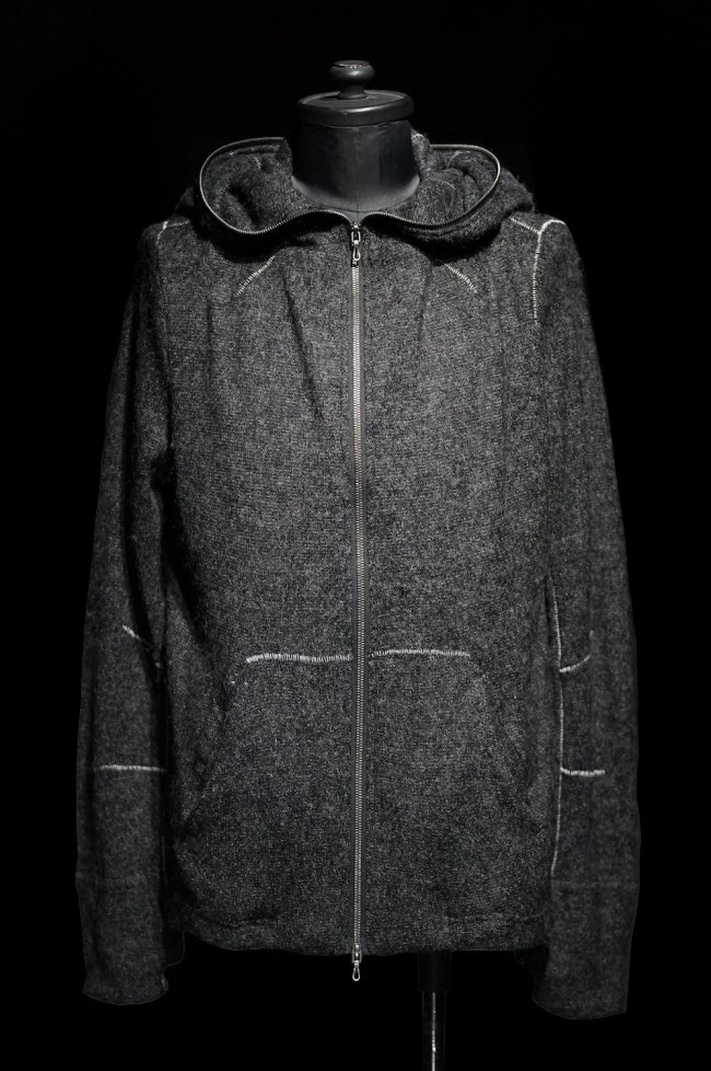 "16AW ""2 WAY+"" OVERLOCKED STRUCTURED HOODIE"
