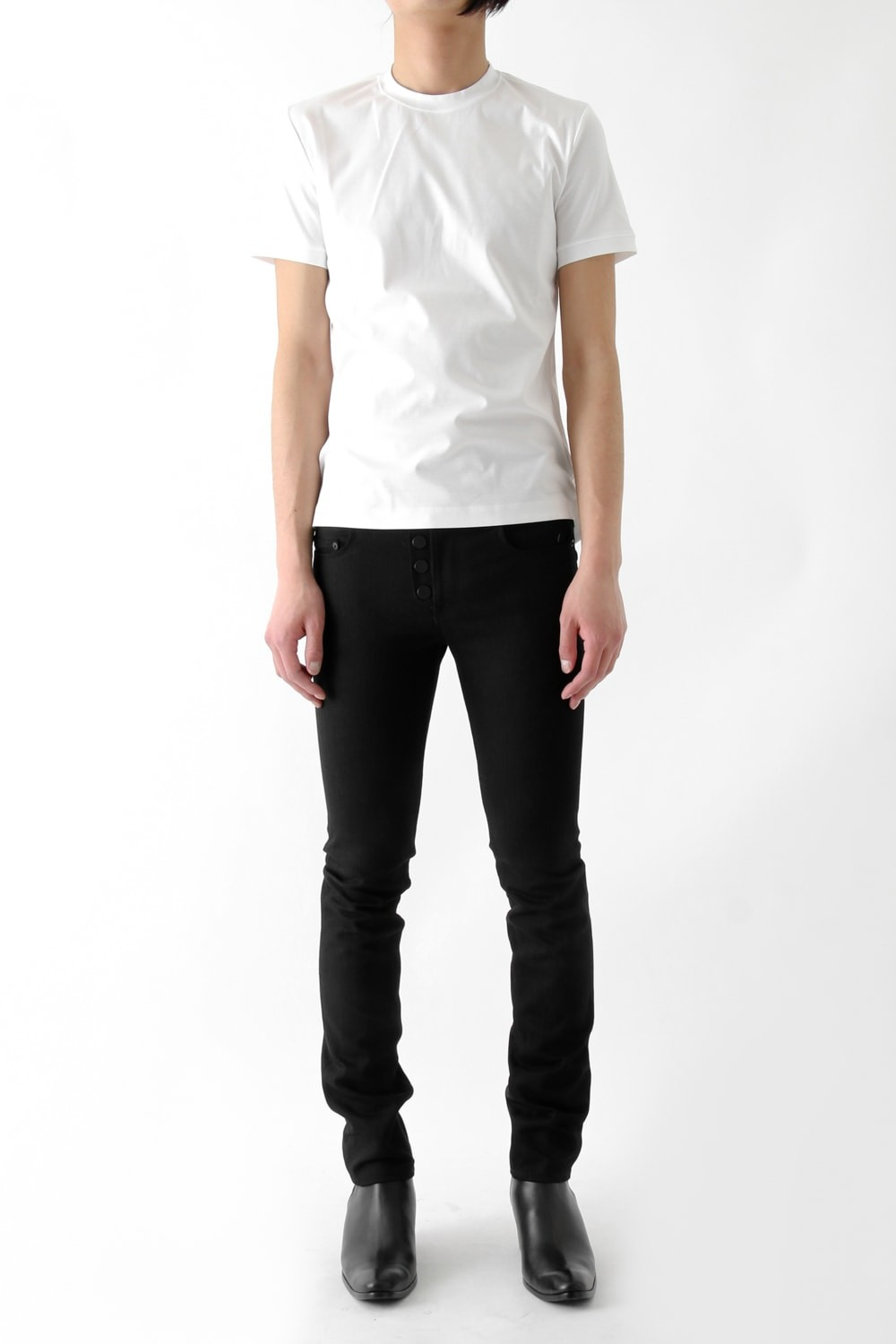 17SS STANDARD : S 001 RIGID DENIM BLACK