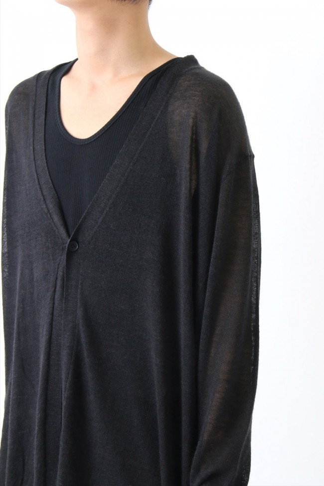 17SS Over size asymmetry knit cardigan
