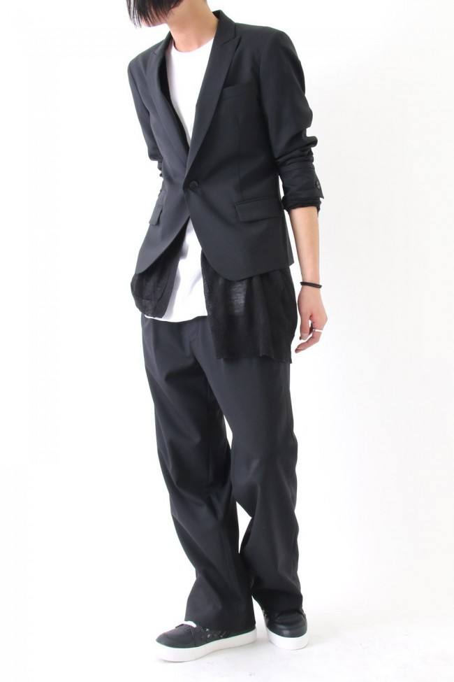 17SS Wool stretch wide pants