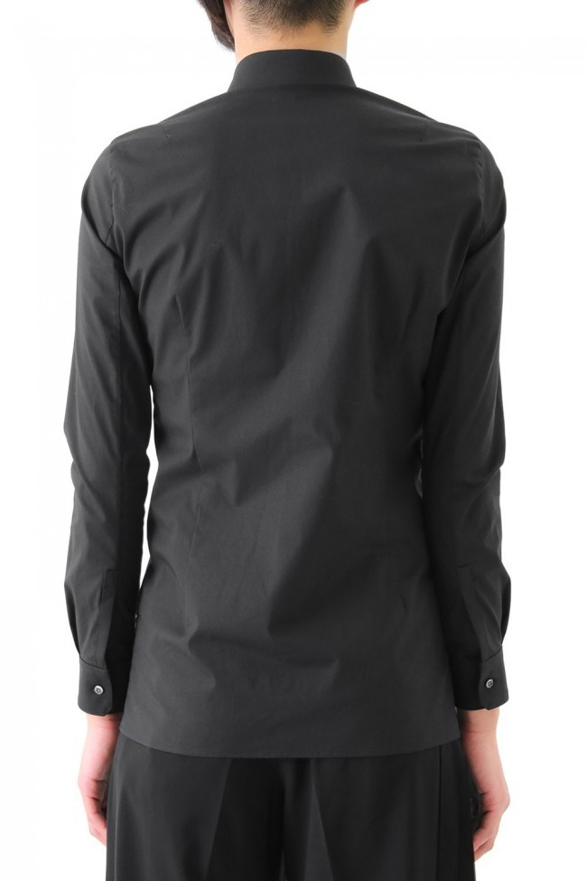 17SS Broad Cloth Stretch Shirt BLACK