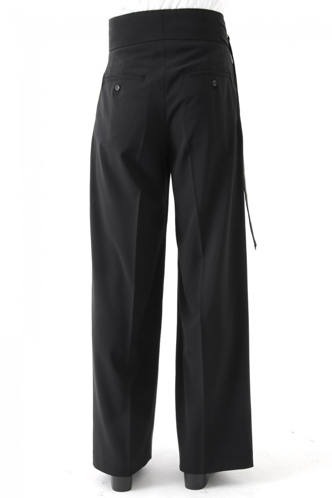 17SS Georgette Stretch High Waist Baggy Pants