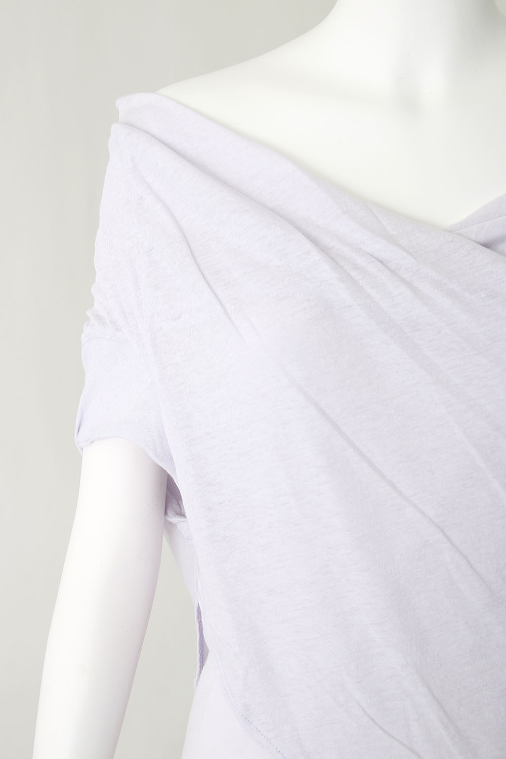 40/1 Cotton Linen Hard Twist  Yarn Jersey T-shirt - DK11-CS04-T02