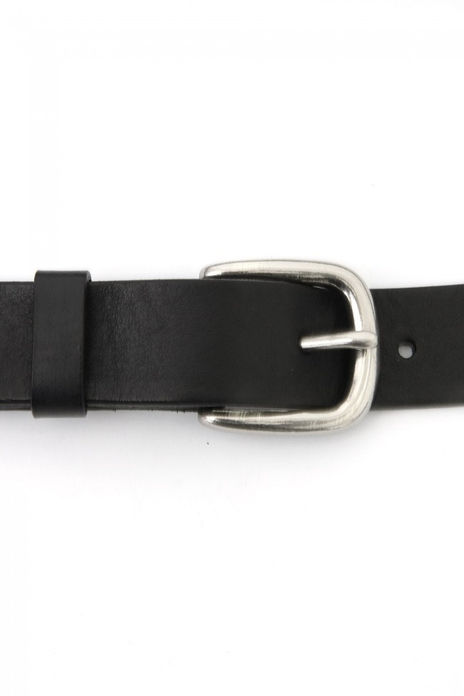 17SS Leather long belt BLACK