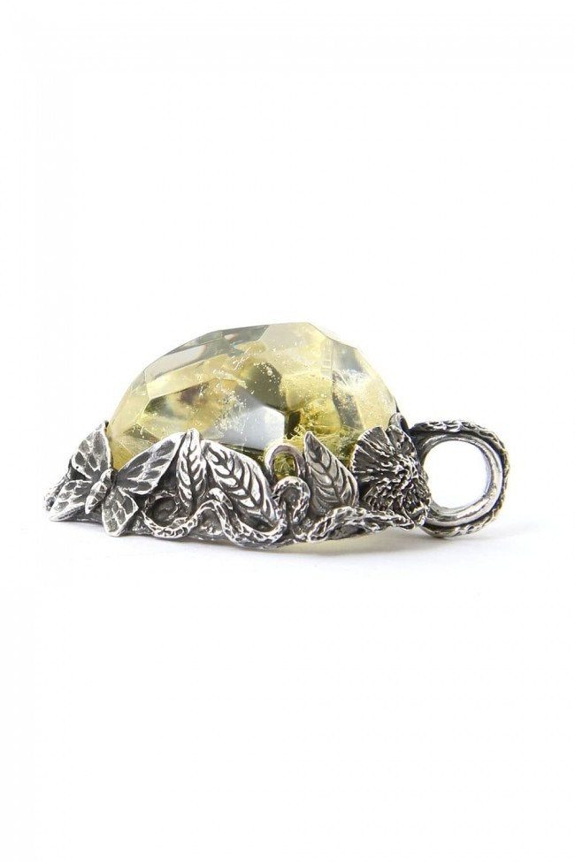the WINTER male / Necklace Charm YELLOW