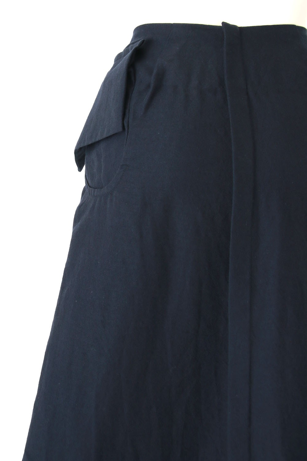 Wool / Cotton Twill Washed Skirt - 04-S02