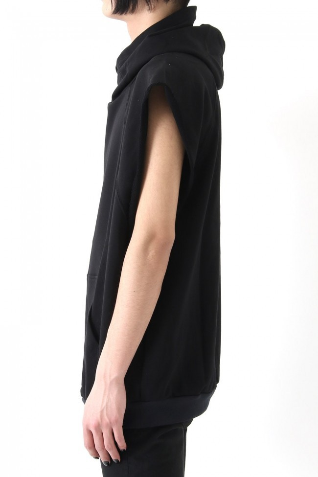 17SS Over size sleeveless hoodie