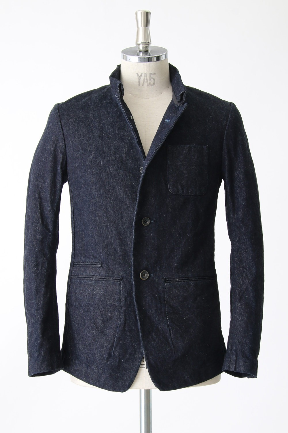 Light Ounce Denim Mao Collar Jacket