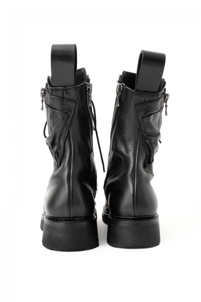 17SS Double Side Zip Military Boots SMOOTH