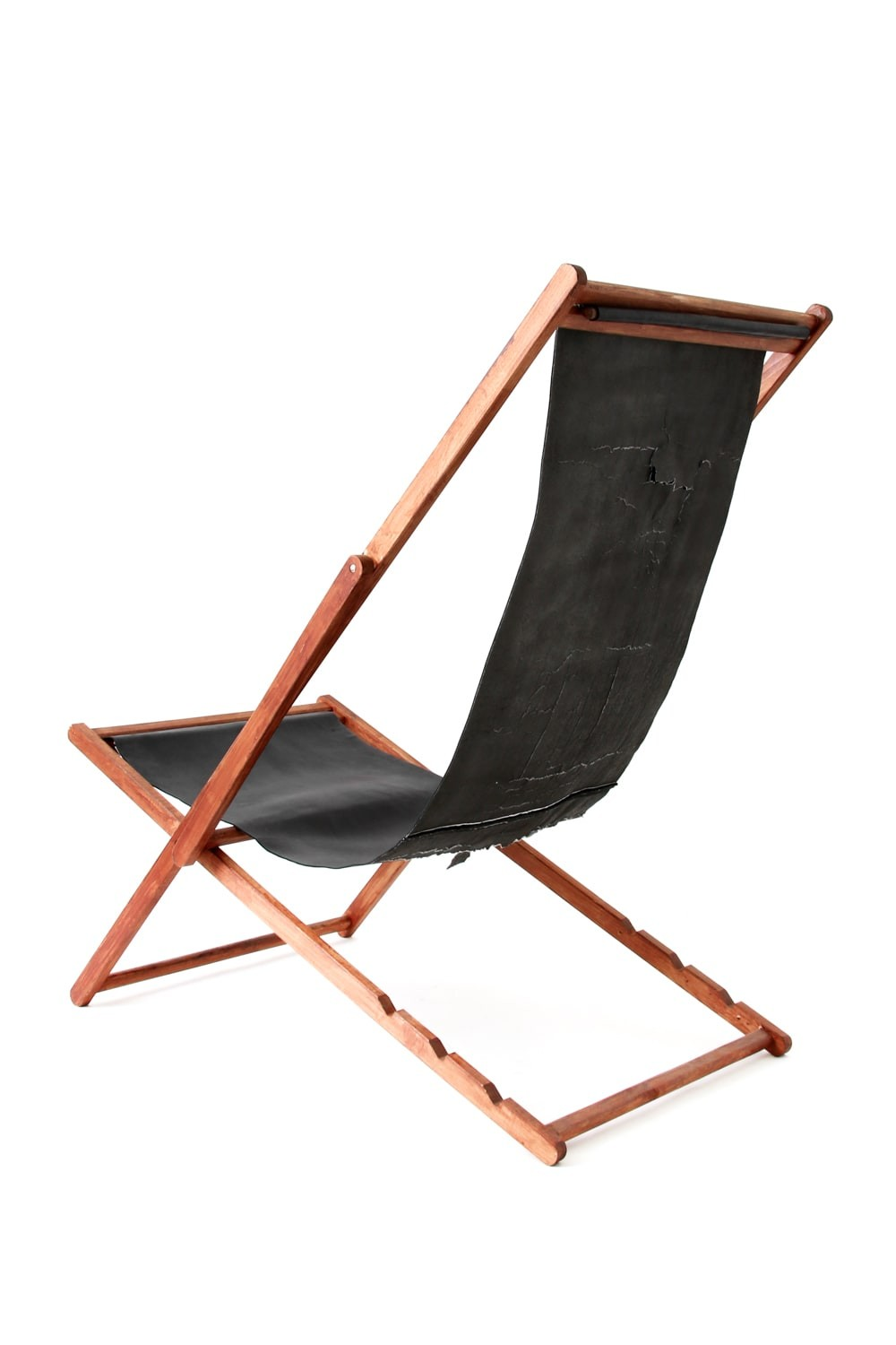 RECLINING CHAIR BLACK×BROWN