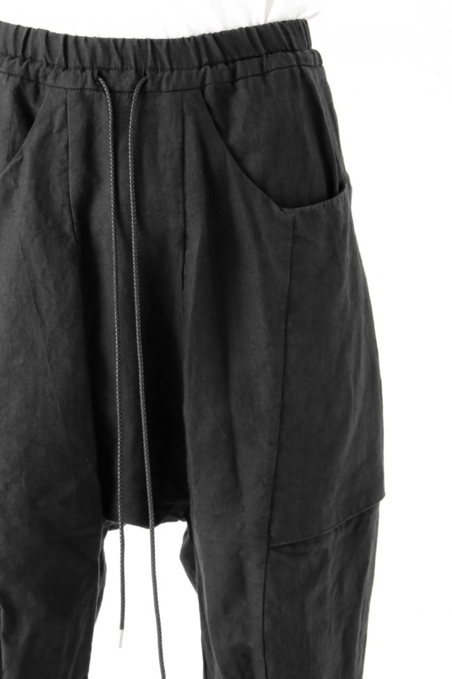 17SS Washed Linen Cropped Pants