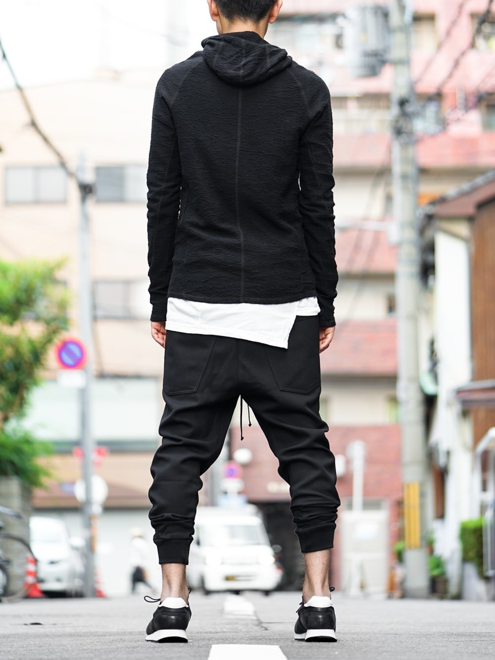 RIBBED PANELLED TRACK PANT