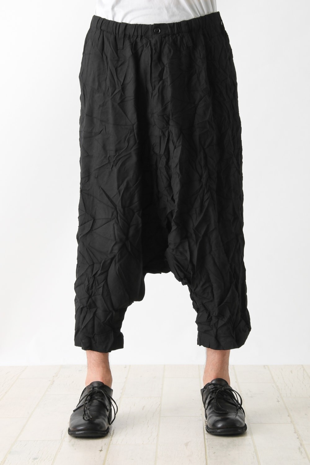 Straight Seamed Sarouel Pants