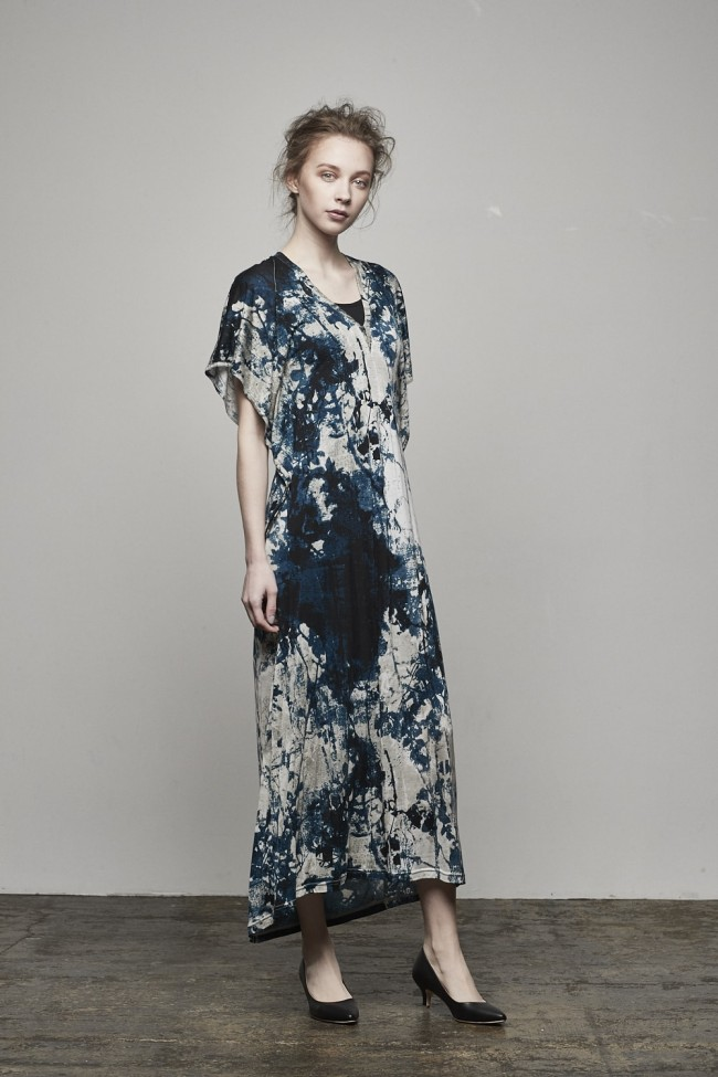 """Bloom"" Print / 30 Tencel Jersey One-piece Dress - DK11-CS01-O05"