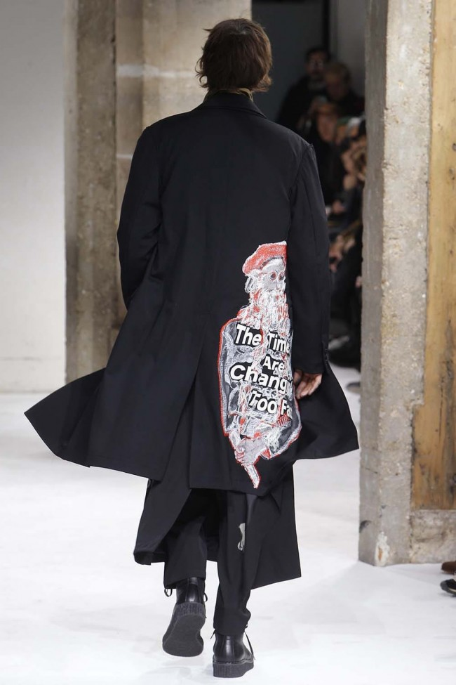 Print Embroidery Long Jacket