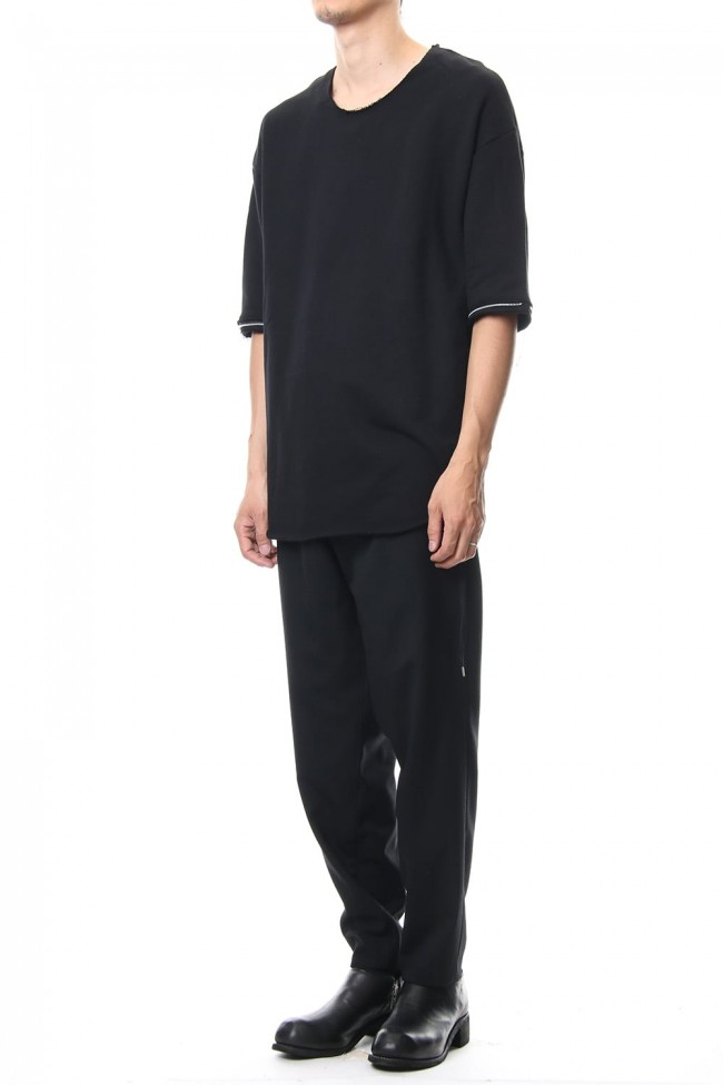 Removable Sleeves Pullover  - blkblk
