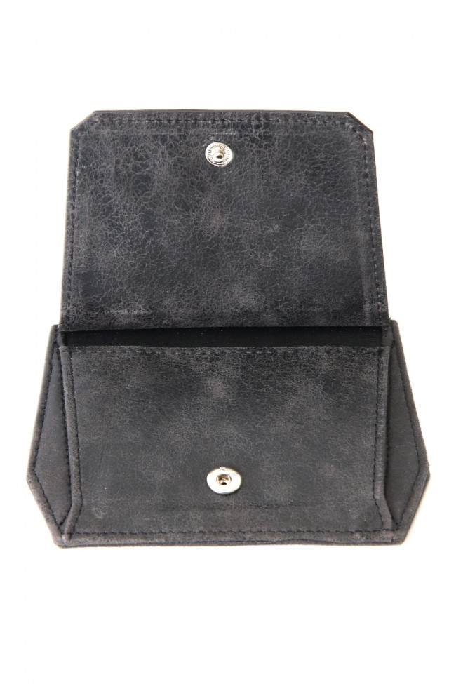 Polygon Coin & Card Case (COATED GOAT SUEDE)