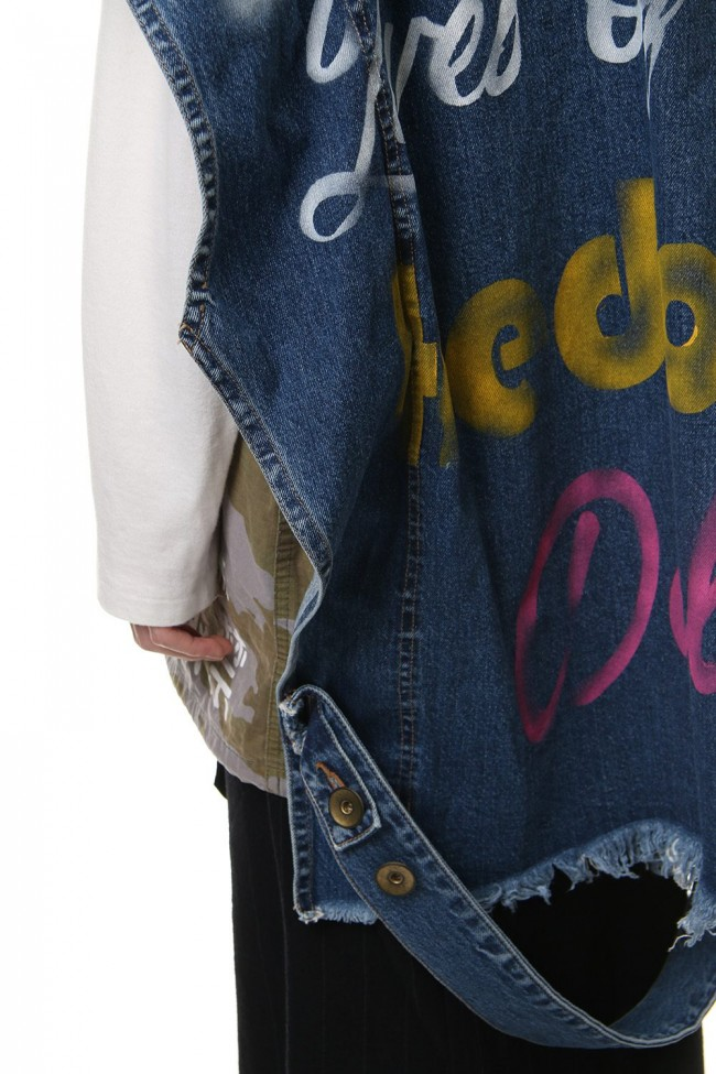 PAINTED DENIM VEST