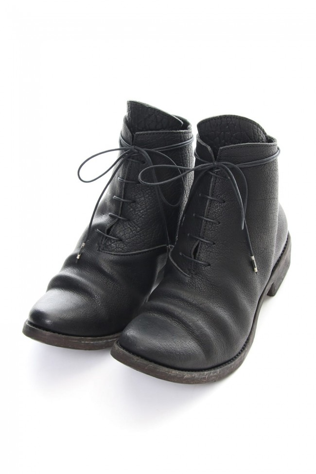 Buffalo leather lace up boots - ST109-0028A