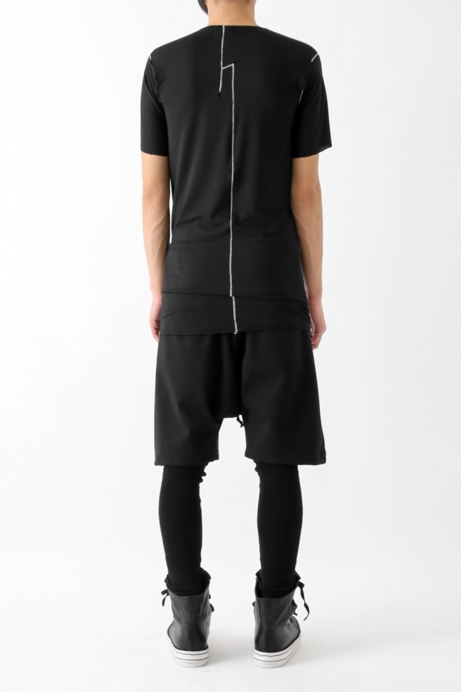 "17SS ""FLAW"" deconstructed raw edge short sleeve cut&sewn"
