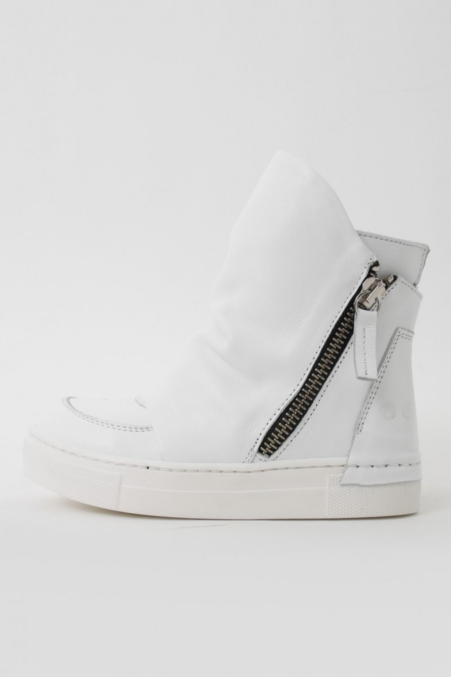 """16AW ARAIA KIDS """"JOY COLORS"""" NERO Layered Side Zip Sneakers WHITE SIZE 26(2〜3Years old)"""