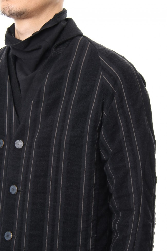 Coat Wool/ Cotton Stripe