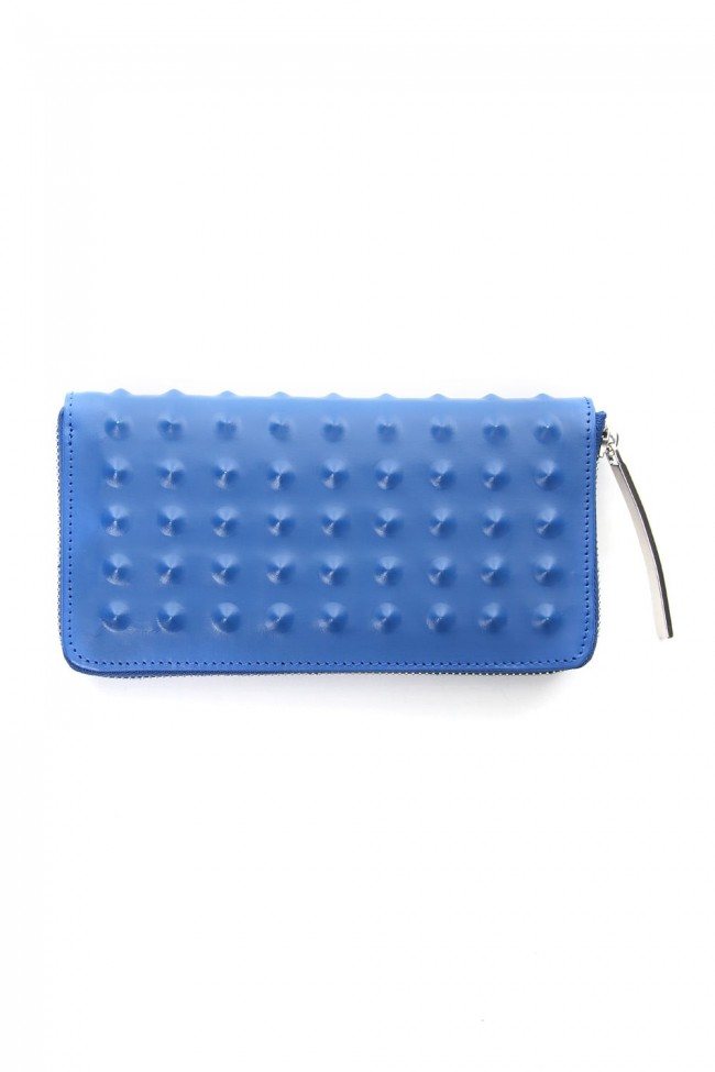 Studs Invisible Long Wallet Navy
