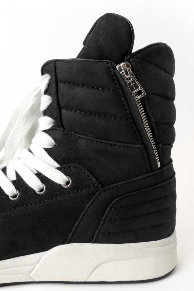DIET BUTCHER SLIM SKIN [DBSS] 16AW  EX. Side ZIP High Top Sneakers