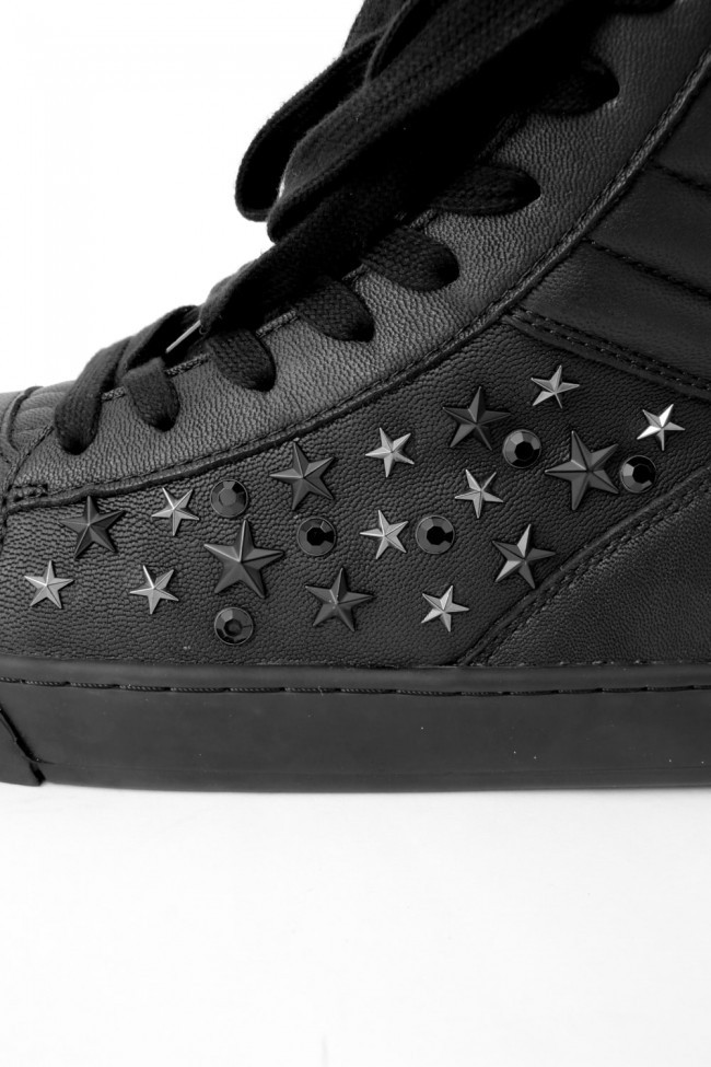 "17SS Twisted sneaker ""TILT-STAR"" BLACK × BLACK"